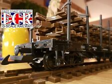 G SCALE 45mm GAUGE FLATBED WITH 4 TRACK LOAD RAILWAY TRUCK GARDEN TRAIN FLAT BED