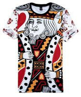 King Playing Card all over print T-Shirt (all over 3d printed costume t shirt)