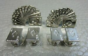 Contemporary Deck of Cards Formal Tuxedo Wedding Cuff Links and Shirt Studs