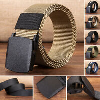 Men's Casual Canvas Web Belt Military Style Polyester Plastic Buckle 6 Colors