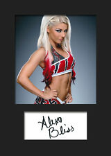 ALEXA BLISS #1 (WWE) Signed (Reprint) Photo A5 Mounted Print - FREE DELIVERY