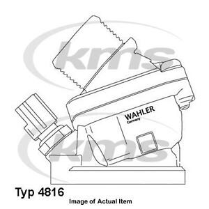 New Genuine WAHLER Antifreeze Coolant Thermostat 4816.90D Top German Quality