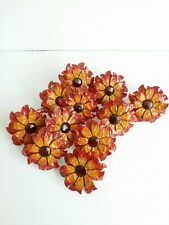 Lot Of 11~Napkin Rings Daisy Red Yellow Metal Flower