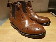 Samuel Windsor brown brogue cheslea dealer ankle boots uk7.5 / Eur 42 vgc