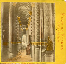 Notre Dame Church Poitiers France Stereoview By O.V. Painted Columns Colorized