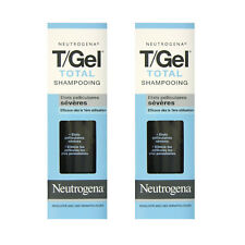 2 x Neutrogena T/Gel Total Therapeutic Shampoo 125ml Treats Itchy, Flaky Scalp