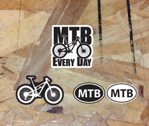 MTB Every Day Mountain Bike sticker kit pack decal Black & White - 3 for 1