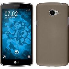 Hardcase für LG K5 Hülle gold gummiert + 2 Schutzfolien
