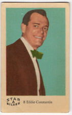 1960s Swedish Film Star Pop Card Bilder A#8 US French Actor Eddie Constantine
