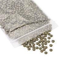 1000pcs Antique Bronze Tibetan Silver Metal Bicone Spacer Beads Findingd 5x3mm