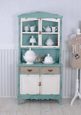 Vitrine de cuisine bois buffet armoire placard de cuisine avec portes & tiroirs