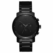 MVMT Watches CHRONO ALL BLACK STAINLESS STEEL Men's Watch Chronograph ORIGINAL
