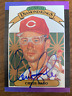Chris Sabo signed 1989 Donruss Diamoind Kings Baseball Card Cincinnati Reds