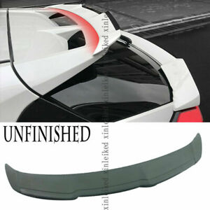 For Toyota C-HR 2016-2021 Unpainted Rear Trunk Spoiler Protector Wing Trim cover