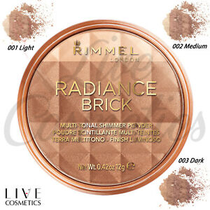 Rimmel Radiance Shimmer Brick Pressed Bronzer Light-As-Air *CHOOSE YOUR SHADE*