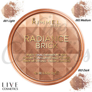 Rimmel Radiance Shimmer Brick Pressed Bronzer Light-As-Air *CHOOSE YOUR SHADE*