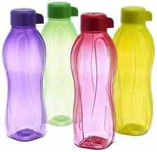 4 X 1 liter Multicolor Tupperware Aquasafe Water bottles Eco Sports bottles
