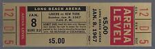 1966-67 NBA NEW YORK KNICKS @ LOS ANGELES LAKERS FULL UNUSED BASKETBALL TICKET