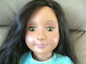 "Our Generation Battat 18"" Girl Doll Black Hair Brown Eyes"