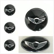 Set  HYUNDAI Genesis Coupe Wing Black Wheel Cap Steering steering Logo Stickers
