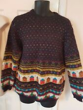 VINTAGE BENETTON MADE IN ITALY FUNKY QUIRKY ICELANDIC NORDIC STYLE SWEATER JUMPE