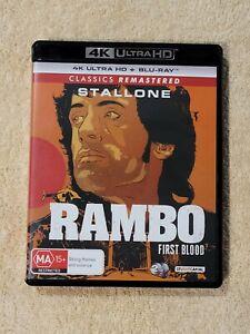 Rambo - First Blood Like New 4K ULTRA HD Blu-Ray UHD (Free Postage)