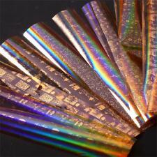 10pc/set Laser Gold Starry cielo Nail Foils papel brillo pegatinas decoración HQ