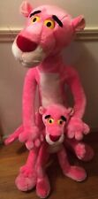 "Dakin Pink Panther 40"" and 24"" Posable Plush Pair/Lot of Two - Some Damage"