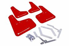Rally Armor UR Red Mud Flap w/ White Logo For 12+ Ford Focus ST/SE/Ti/RS