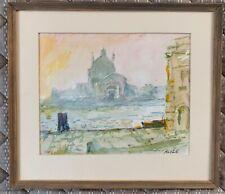 Andre Bicat Watercolour - St. Marks Basilica Venice
