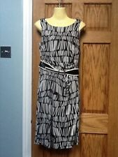 Crew Neck Formal Striped Dresses Size Petite for Women