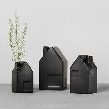 NEW Hearth and Hand Magnolia Set of 3 Black Bud Vase House - Small Medium Large