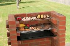 Brick BBQ Kit with Ember Guard & Warming Rack 67 x 39 Black Knight Brand