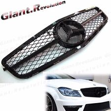 For 12-15 BENZ C204 Coupe C250 C350 Shiny Black Tune C63 Look Front Hood Grille
