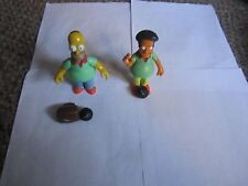 Simpsons Interactive World of Springfield figures Bowling Pin Pal Homer & Apu