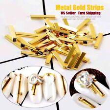 10/20pcs New 3D Alloy Metal Gold Bar Stick Strips DIY Nail Art Charms Decoration
