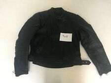 "Polo Motorcycle Jacket Real Leather Black 38 Armpit 20"" Lgth 21"" (908)"