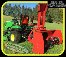 """50"""" -  3 point hitch snow blower for compact and sub-compact tractors (GREY)"""