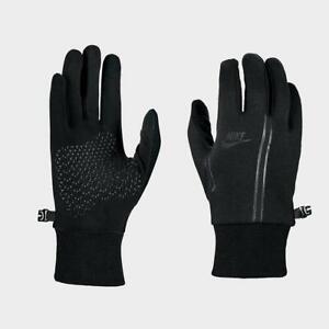 Nike Tech Fleece Light Winter Running Gloves With Grip Palm Black Men's L/XL