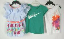 Nike, Little Lass, & Tough Skins Toddler Girl's 3 Piece Shirt Lot Size 4T EUC H1