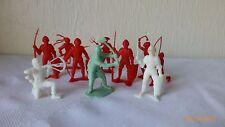 Vintage Toy Roman Soldiers Gladiators Vikings Plastic Figures 1960's Lot of 10