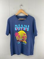 Miami Vice Mens Short Sleeve T Shirt Crew Neck Size XL Blue