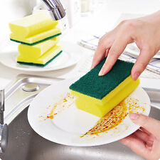 5X Soft Foam Sponge Wipe Brush Washing Dishes Bowl Sided Clean Home Kitchen Tool