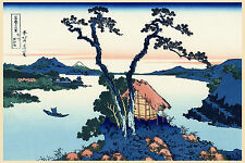 Japanese Art Print: Lake Suwa, Shinano Province - Fine Art Reproduction