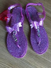 WOMENS NEW PINK JELLY SANDALS SIZE 5