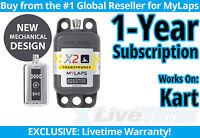 MyLaps X2 Kart Rechargeable Transponder w/ 1-year Subscription -AMB Flex 260