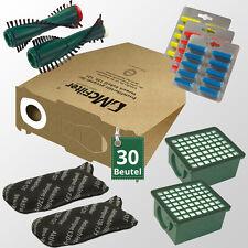 66 tlg Sparset passend für Vorwerk Kobold VK 130 131 Filtertüten Bürsten Filter