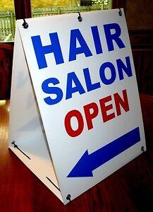 HAIR SALON OPEN with ARROW 2-Sided  Sandwich Board Sign Kit NEW