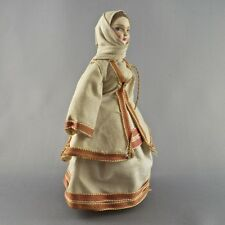 Vintage Peasant Girl Doll in Traditional Costume from Attika Region of Greece