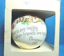 "Hallmark ""Friendship"" Ball Ornament 1982"
